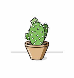 colored cactus icon vector image