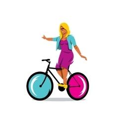 Girl on Bike sign vector image