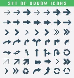 Set of arrow icons vector image vector image