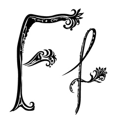 letter F f vector image vector image