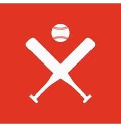 The baseball icon Sport symbol Flat vector image