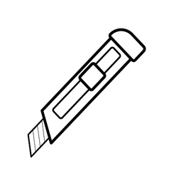 cutter outline vector image vector image