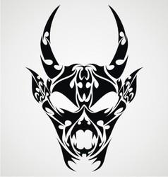 Devil Head Tattoo Design vector image vector image