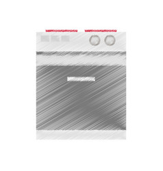 drawing stove appliance icon vector image vector image