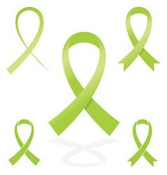 green sign ribbon cancer symbol vector image