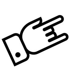 Hand showing rock outline icon vector image vector image