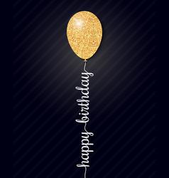 happy birthday card on black background vector image