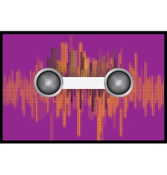 Music background with halftone vector image