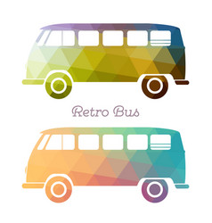 retro multicolor bus vector image vector image