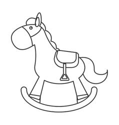 wood rocking horse icon vector image