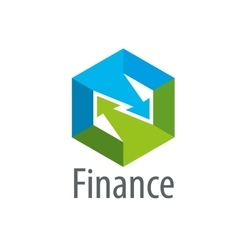 logo finance vector image