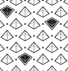 pyramid isometric pattern vector image vector image