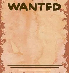 vintage poster of wanted criminals for a fee vector image