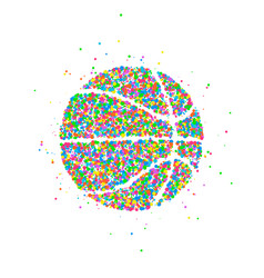 abstract basketball icon vector image