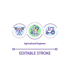 Agricultural engineer concept icon vector