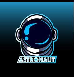 astronaut head mascot logo vector image