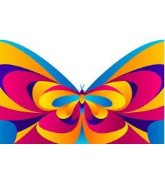 Background design with butterfly vector