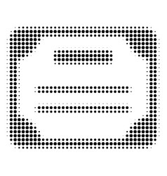Black dotted license icon vector