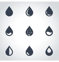 black drop icon set vector image