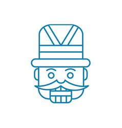 carnival costume linear icon concept carnival vector image