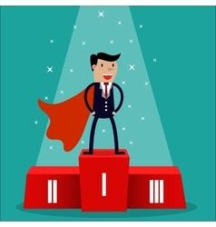 Cartoon super businessman vector image