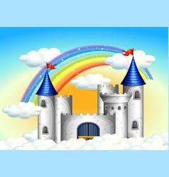 Castle in clouds vector