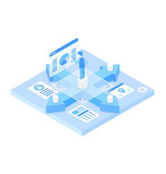 change way your work isometric vector image