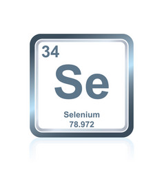 Chemical element selenium from the periodic table vector