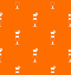 cocktail pattern seamless vector image