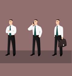 Collection of standing businessmen in tie vector