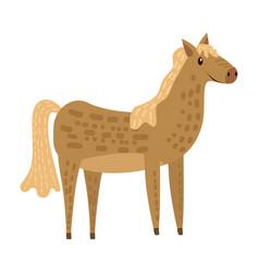 cute horse animal trend cartoon style vector image