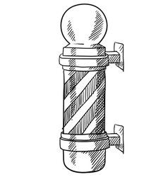 Doodle barber pole vector