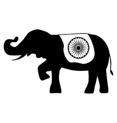 Elephant india flag vector
