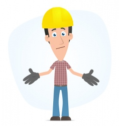 embarrassed builder vector image
