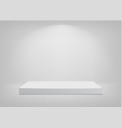 empty stage white background podium vector image