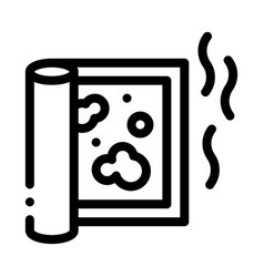Evaporation from carpet cleaning icon vector