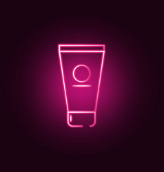 face cream neon icon elements antiaging set vector image