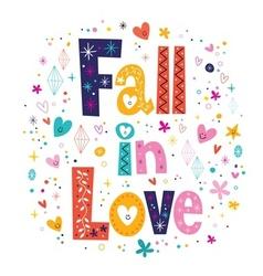 Fall in love vector
