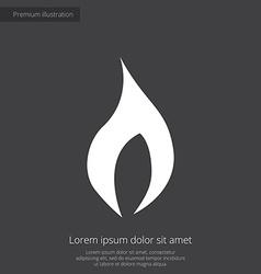 fire premium icon white on dark background vector image