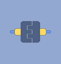Flat icon design collection wheel gears vector
