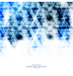 geometric technological blue triangle abstract vector image vector image
