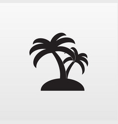 gray palm icon isolated on background modern flat vector image