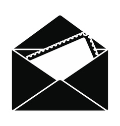 Greeting card in the envelope icon vector image