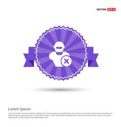Hacker icon - purple ribbon banner vector
