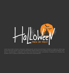 Halloween design with castle and spider web vector
