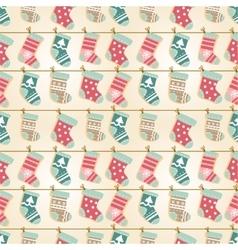 Holiday Christmas seamless background vector