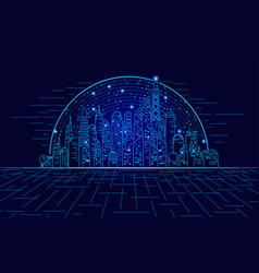 hologramcity vector image