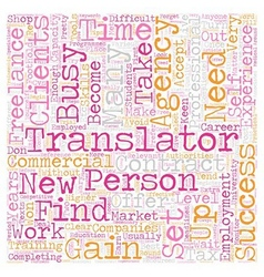 How to become a successful freelance translator vector