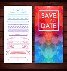 image cheery save date invitation template vector image