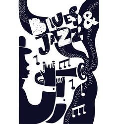 jazz poter vector image